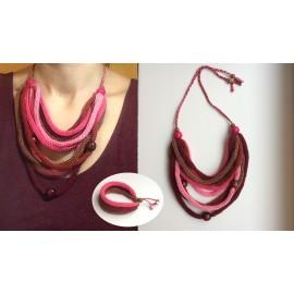 Set bijuterii tricotate